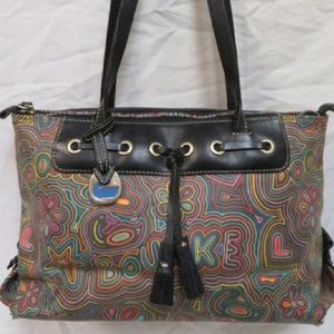 Dooney & Bourke coated canvas graphic tote